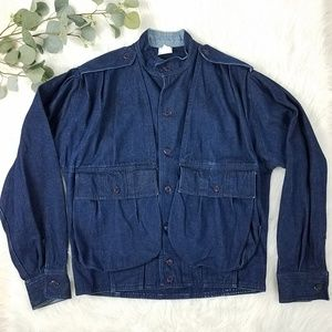 Vintage SEARS Dark Wash Denim Jacket Medium